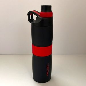 Stainless steel vacuum insulation bottle on the go